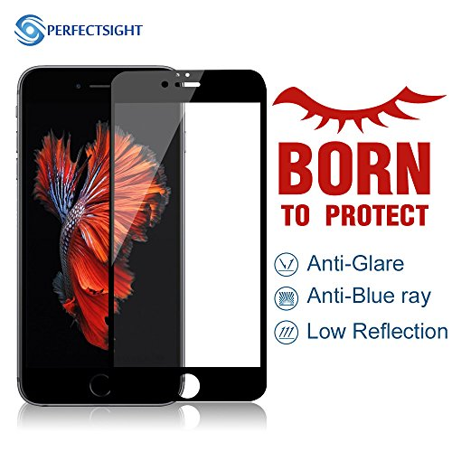PERFECTSIGHT Screen Protector for Apple iPhone 6/6s [Anti Glare] Blue Light Filter Scratch Proof 9H 2.5D Curved Edge Tempered Glass