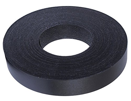 "Black Melamine Edge Banding Preglued 3/4"" X 25' Roll - Iron on - Hot Melt - High Quality. Made in USA."