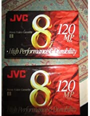 JVC 120-minute estándar 8mm cintas de videocámara (2unidades) (p6120jh2)