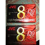 JVC 120-Minute Standard 8mm Camcorder Tapes (2 Pack) (P6120JH2)