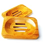 Natural Bamboo Wooden Bathroom Shower Soap Dish Storage Holder Plate Tray New (HG0050)