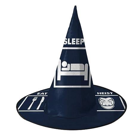 NUJIFGYTCRD Eat Sleep Heist La Casa De Papel Sombrero de Bruja ...