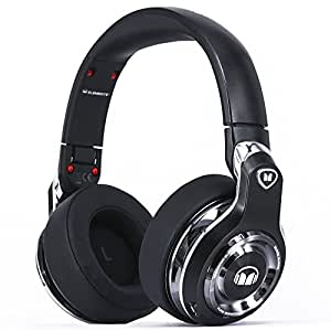 Monster Elements Over-Ear Bluetooth Headphones Black Slate- Cutting-edge over ear swipe controls, Stylish Design, 24 hrs listening