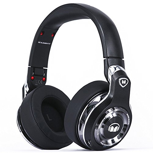 Monster Elements Over-Ear Bluetooth Headphones Bla...