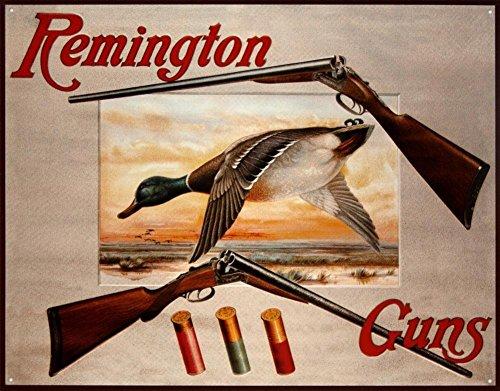 Vintage Duck - Remington Shotguns Duck Hunting Sporting Cartridges Rifles Retro Vintage Poster , 28x24