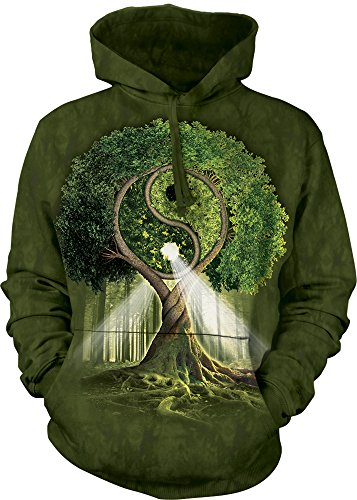 The Mountain Yin Yang Tree Hoodie, Large, Green