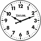taylor precision products patio clock 12inch