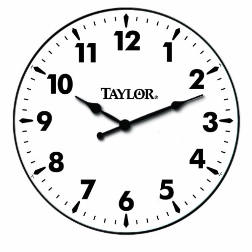 Metal Bezel Clock - Taylor Precision Products Patio Clock (12-Inch)