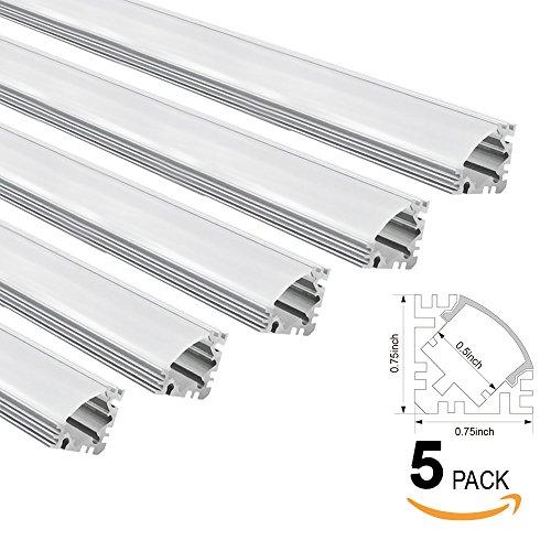 TORCHSTAR 5-PACK 1M/3.3ft V-Shape Aluminum Channel