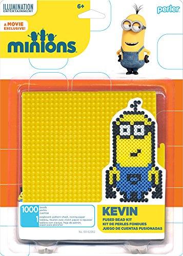 Perler Beads 80-62982 Minions Perler Kevin Activity Kit, Yellow]()