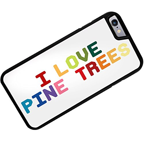 Case for iPhone 6 Plus I Love Pine Trees,Colorful - Neonblond (I Pine 6 Plus)