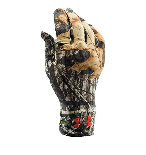Under Armour Men's Camo HeatGear Liner, Mossy Oak Obsession (940)/Dynamite, - Hunting Gloves Under Armour
