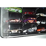 Hotwheels display case (black) w/clear dust cover for 65 loose diecast cars