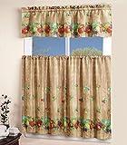 Elegant Kitchen Window Curtains Elegant Window Treatment Sheen 3piece Kitchen Curtain lovely Tier and Valance set