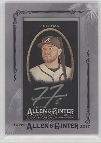 Freddie Freeman (Baseball Card) 2017 Topps Allen & Ginter's - Autographed Minis - Black Parallel Silver Framed (Mini Autographed Card)