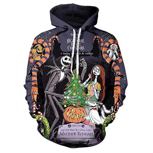 Women Jack Skellington Hoodie 3D Printed Sally The Nightmare Before Christmas Costume Cartoon Pullover Sweatshirt