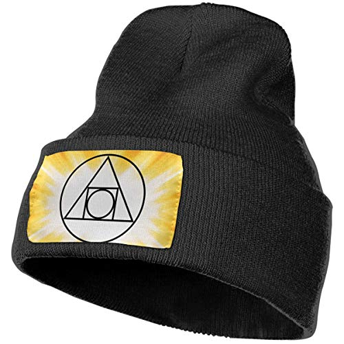 - Soft Knit Beanie Hat Philosopher's Stone Squaredcircle Classic Skull Cap Sports Fan Watch Cap Black