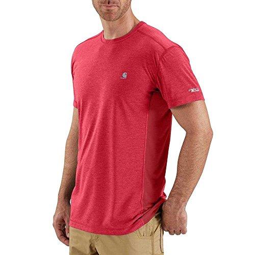 Carhartt Mens 102960 Force Extremes Short Sleeve T-Shirt - XX-Large - Light Crimson - Crimson Heather