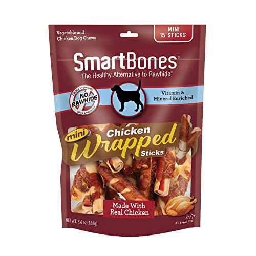 Smartbones Mini Chicken-Wrapped Sticks For Dogs, Rawhide-Free, 15 Count