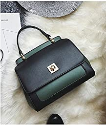 ilishop Womens PU leather Shoulder Bag (Green)