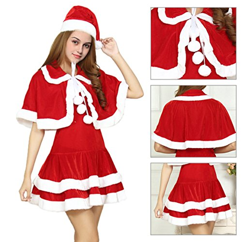 Mrs Santa Claus Girls Santa Costume Miss Santa Santa's Sexy Dress (Santa Claus Costume For Girl)