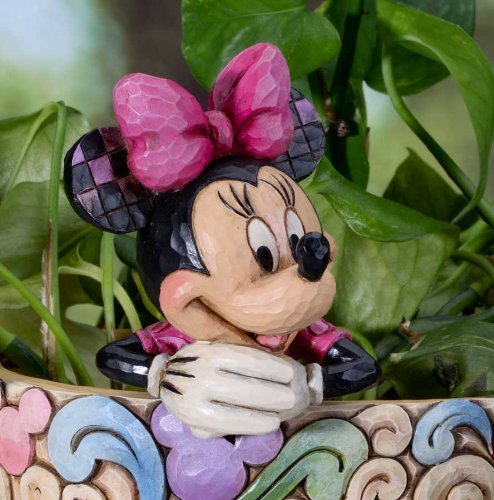 Jim Shore Disney Traditions Minnie Cachepot Character Plant Stake 4027151 (Disney Jim Plant Shore)