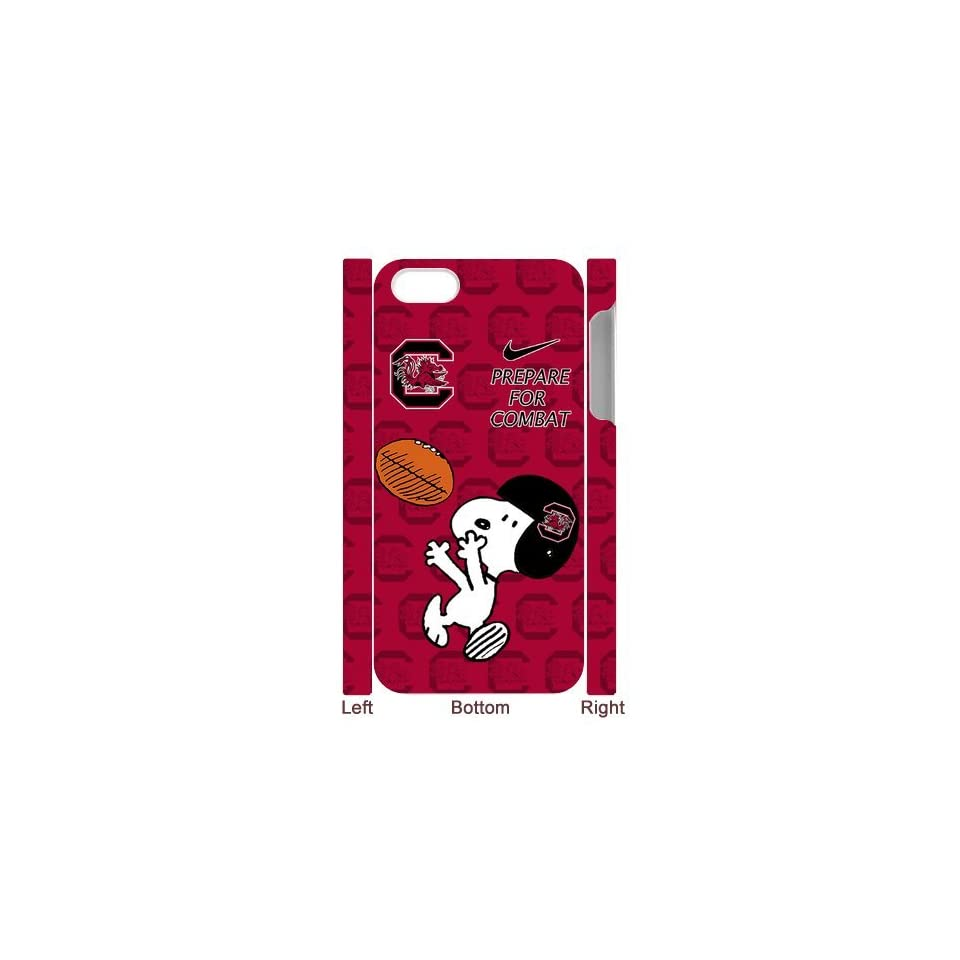 NCAA South Carolina Gamecocks Funny Snoopy Nike Logo Hard Cases Cover for iPhone 5/5s Electronics