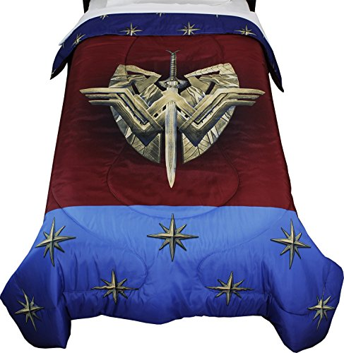 Wonder Woman DC Comics Twin Comforter Themyscira Bedding (Wonder Woman Bedding Full)