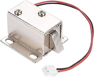 Serratura elettrica elettromagnetica a solenoide CC 12V Serratura elettrica ad uso estetico Cassetto per armadietto Cassetto di sicurezza Serratura intelligente