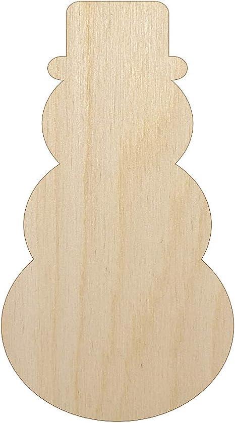 Snowman Style 1 Unfinished Wood Shape Cutout Variety Sizes USA Made Winter Decor Thanksgiving Decor Turkey Body