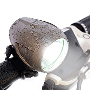 Bright Eyes NEWLY UPGRADED and FULLY WATERPROOF 1200 lumen Rechargeable Mountain, Road Bike Headlight, 6400mAh battery (NOW 5+ HOURS on Bright Beam). Comes with FREE DIFFUSER LENS and FREE TAILLIGHT