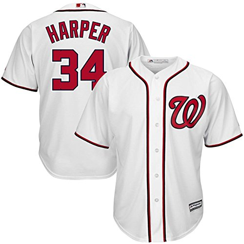 Replica Player Stitched Home Jersey - Majestic Bryce Harper Washington Nationals MLB Toddler White Home Cool Base Replica Jersey (Toddler 2T)