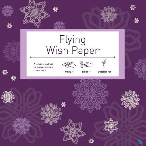 Flying Wish Paper Purple Snow, Large