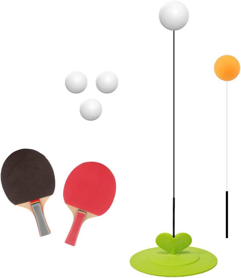 ZUCAI Mesa De Ping Pong Sola Trainer, Un Dispositivo De Rebote Tabla De Entrenamiento De Tenis Elástico Suave Curva del Eje De Resistencia Buena Elasticidad Formación del Equipo del Kit