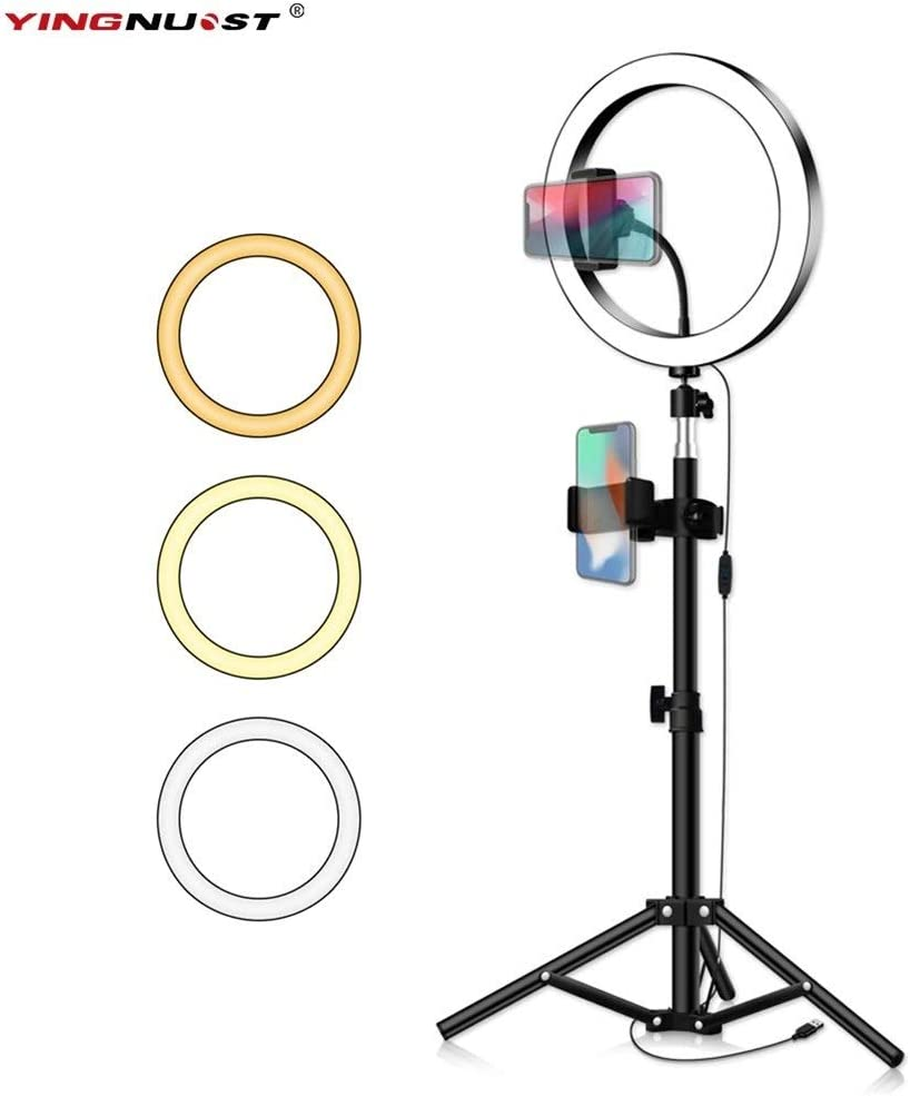 Size : 20cm Type 50cm XINHUANG LED Ring Light 16//20//26cm 5600K Dimmable Selfie Ring Lamp Photographic Lighting with Tripod Phone Holder USB Plug Photo Studio