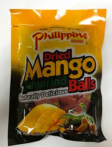 Philippine Brand Dried Mango Tamarind Balls, 3.53-Ounces Pouches (Pack of 10) by Philippine