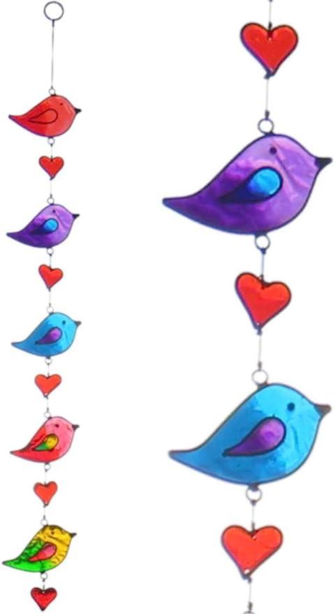 Blue jay stained glass window hangings Custom stained glass bird suncatcher