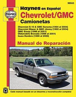 haynes chevrolet s 10 and gmc sonoma pick ups 94 01 manual rh amazon com 2001 gmc sonoma repair manual 2001 GMC Sonoma Problems