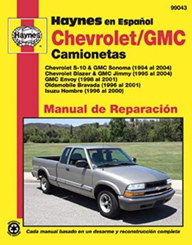 chevrolet s 10 gmc sonoma 94 04 haynes automotive haynes rh amazon com 2001 gmc jimmy repair manual 2001 gmc sonoma service manual pdf