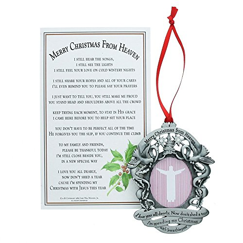 (Merry Christmas from Heaven Photo Ornament - Loved Ones Tree Decoration (Personalized) )