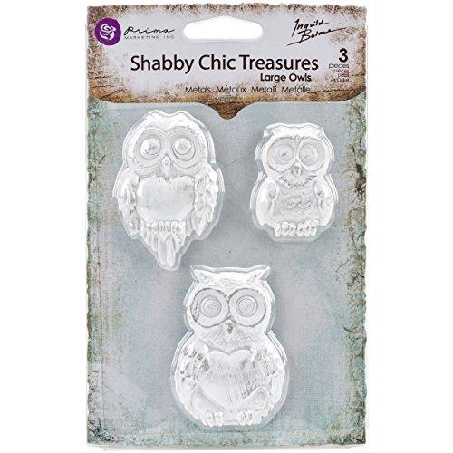 (Prima Marketing Shabby Chic Treasures Resin-Large Owls)