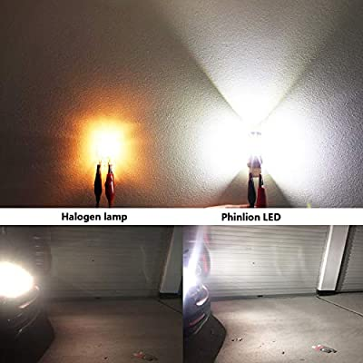 Phinlion 3600 Lumens 7443 7440 LED Backup Light Bulb Super Bright 7441 7444 LED Bulbs for Back Up Reverse Turn Signal Brake Tail Lights, 6000K Xenon White: Automotive