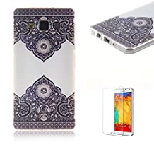 For Samsung Galaxy A5 Case [with Free Screen] Protector.Funny Clear Flexible Perfect TPU Transparent Soft Shockproof Durable Fashionable Pattern Design Protective Cover Case for Samsung Galaxy A5-Totem