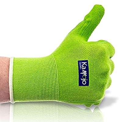 Bamboo Garden & Work Gloves - Eco-Friendly - (2 PAIRS Per Pack) Women & Men. Breathable Flexible Comfortable. Naturally Protective Great-Grip Latex. Small Medium Large X-large