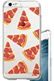 iPhone 6S Case Pizza Overload Fruit Foodie Food Hipster Clear Translucent Transparent Unique Design Pattern Cover For iPhone 6S also fits iPhone 6