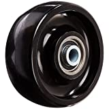RWM Casters MUB-0830-16 8-Inch x 3 Solid Urethane Wheel with Ball Bearing for 1-Inch Axle, 2500 Pound Capacity