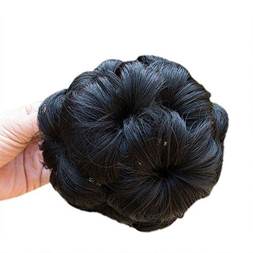 Wig Hair Spray For Human Hair,DDKK Pretty Woman Girl Ponytail Holder Hairpiece Wig Hair Ring Bun (A)