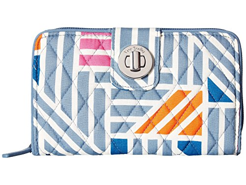 (Vera Bradley Women's Rfid Turnlock Wallet Painted Medallions One Size)