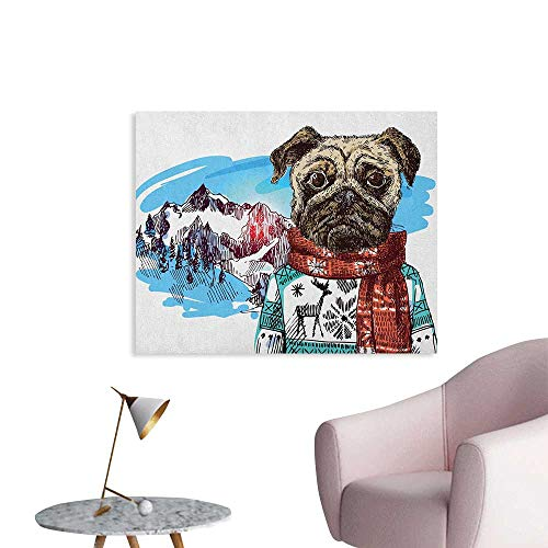 Anzhutwelve Pug Wall Paper Sketch Style Dog with