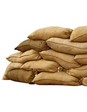 "Sandbaggy Burlap Sand Bag - Size: 14"" x 26"" - Sandbags 50lb Weight Capacity - Sandbags for Flooding - Sand Bag - Flood Water Barrier - Water Curb - Tent Sandbags - Store Bags (10 Bags)"